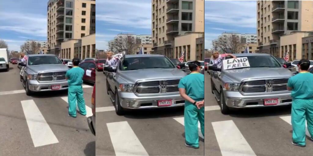 coronavirus healthcare protest