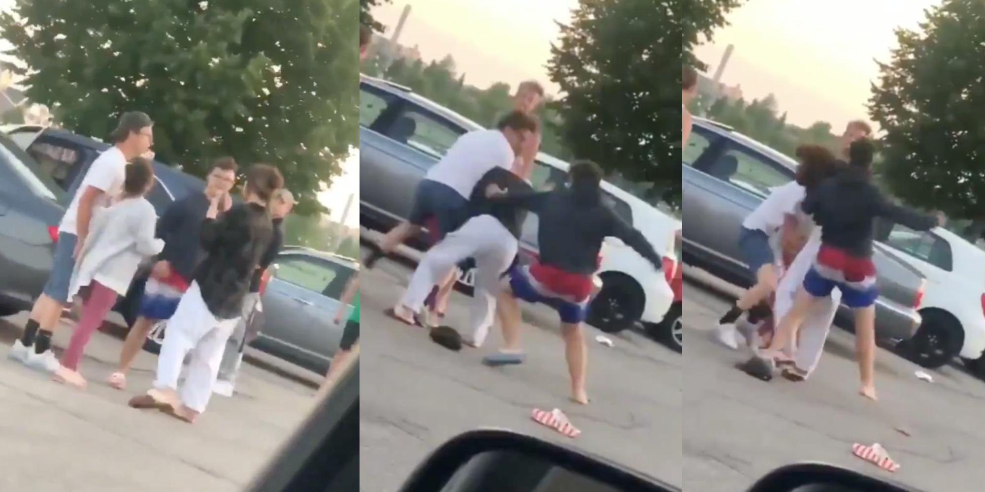 Kyle Rittenhouse punching girl