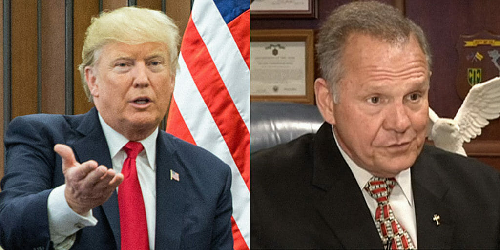 Donald Trump and Roy Moore