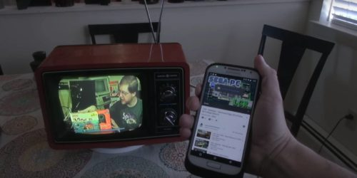 image of a television with the facebook and facebook logo on the screen