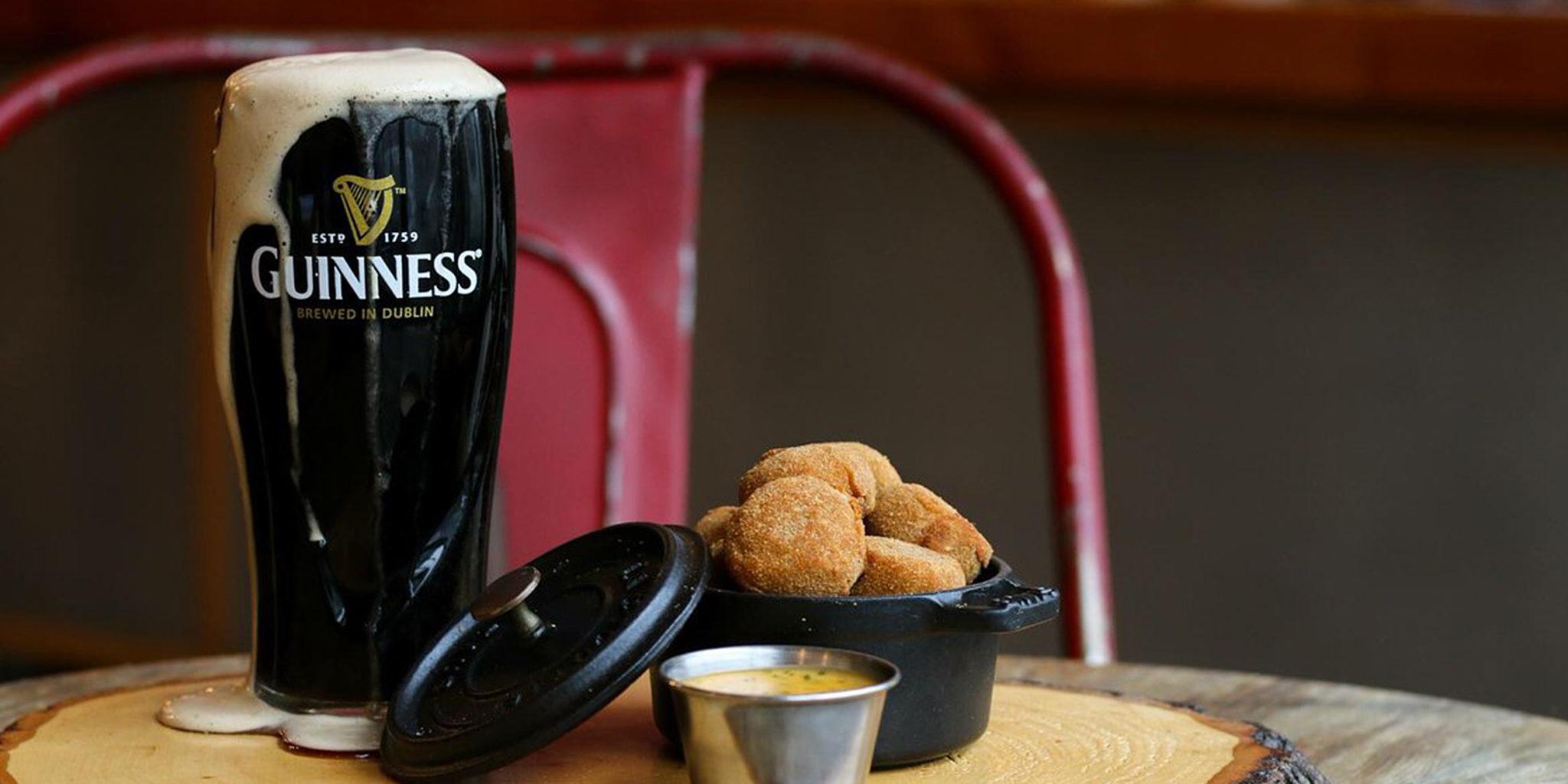 Horribly-poured Guinness