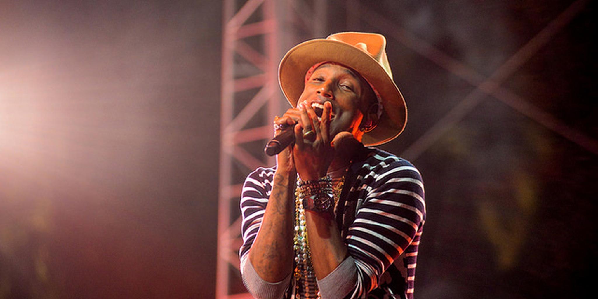Pharrell Performing at Coachella