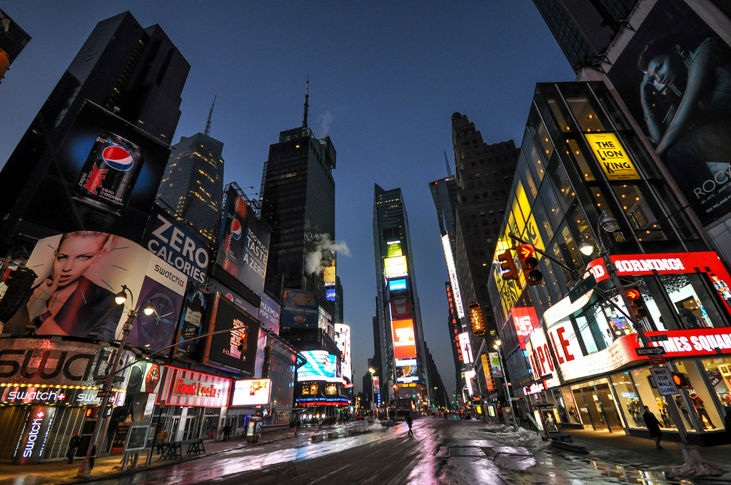 Times Square at Dawn