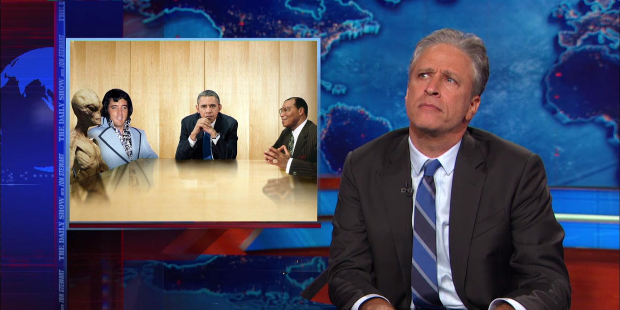 jon stewart obama secret meetings