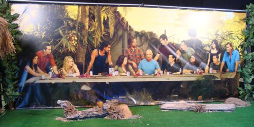 All sizes | LOST Auction - cast photo last supper backdrop | Flickr - Photo Sharing!