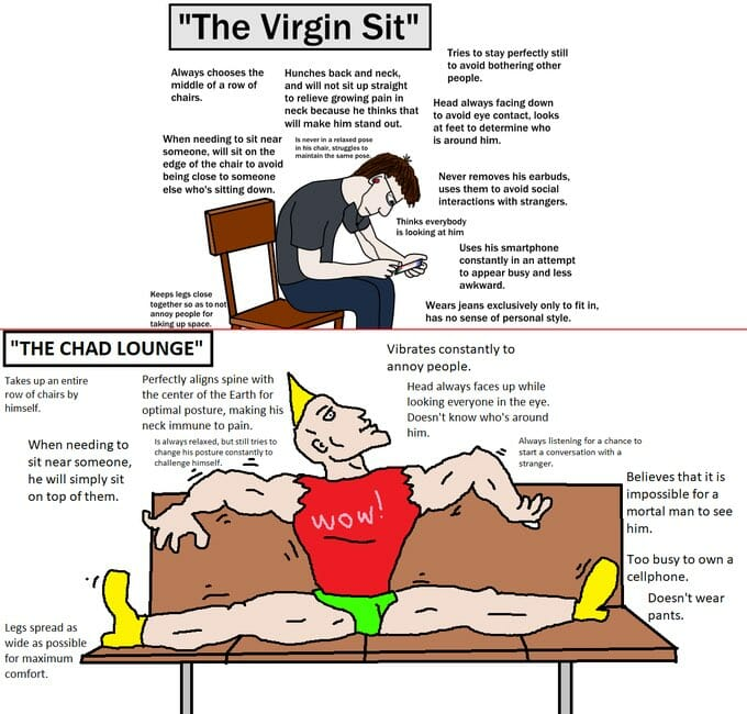 virgin vs chad sitting