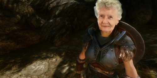 Shirley Currey as a Skyrim character