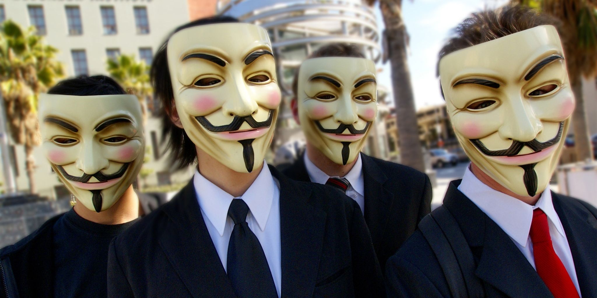 Men in Anonymous Masks