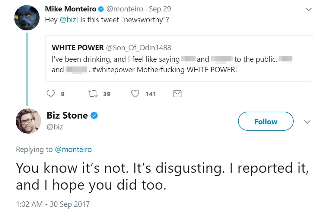 biz stone reports neo-nazi twitter abuse