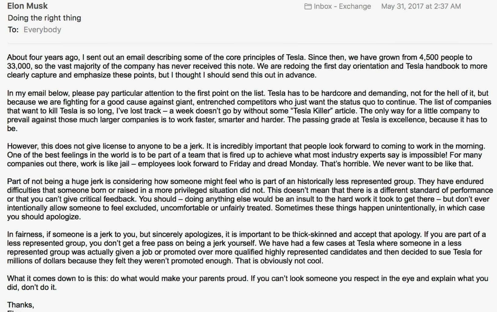 elon musk letter to employees lawsuit