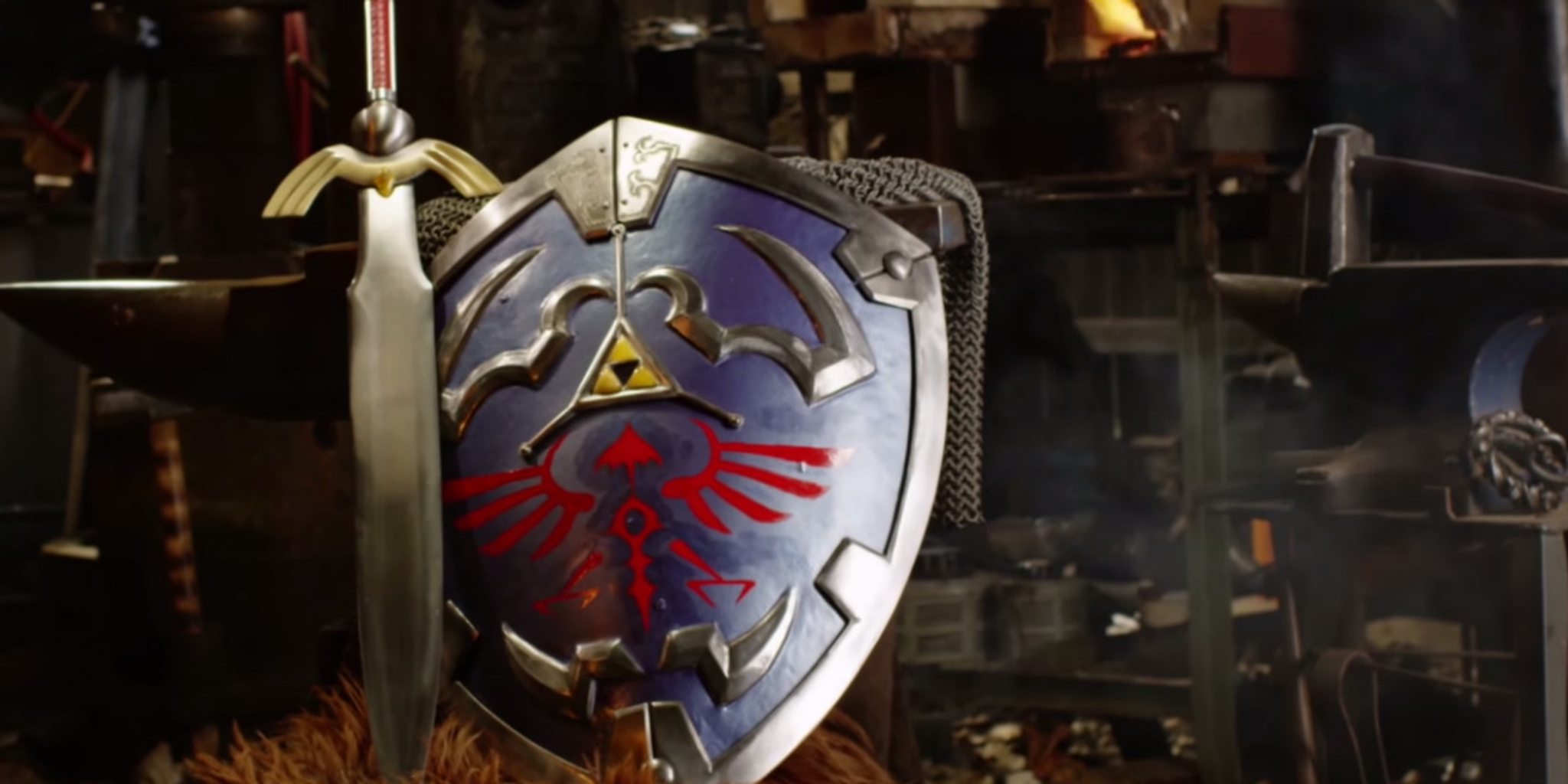 Screengrab of a video about a real life Hylian Shield.