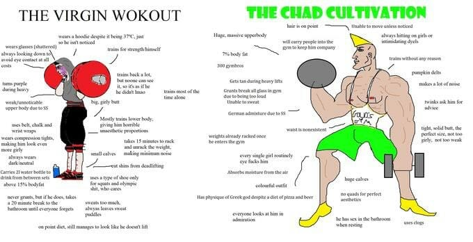 virgin vs chad workout