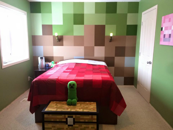Young Minecraft fanatic gets the bedroom makeover of a lifetime