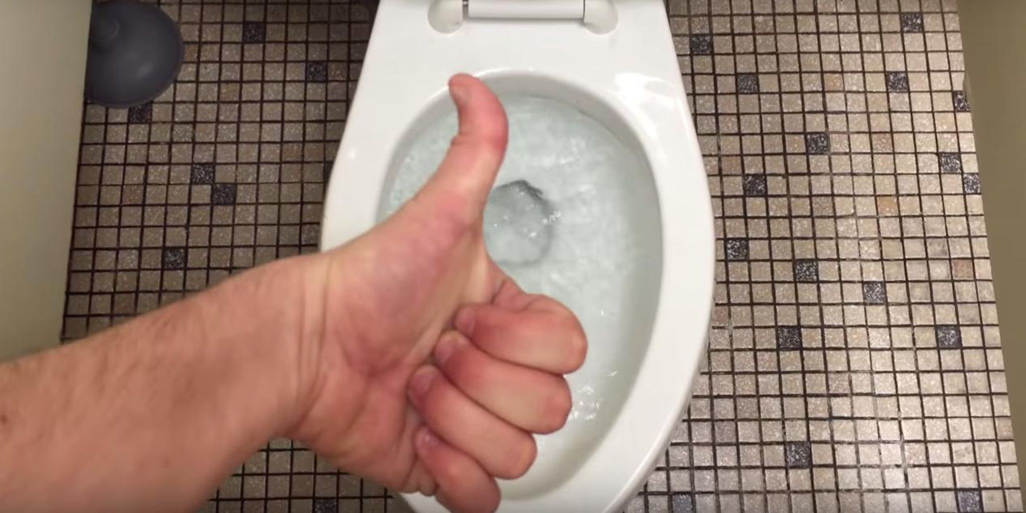 toilet thumbs up