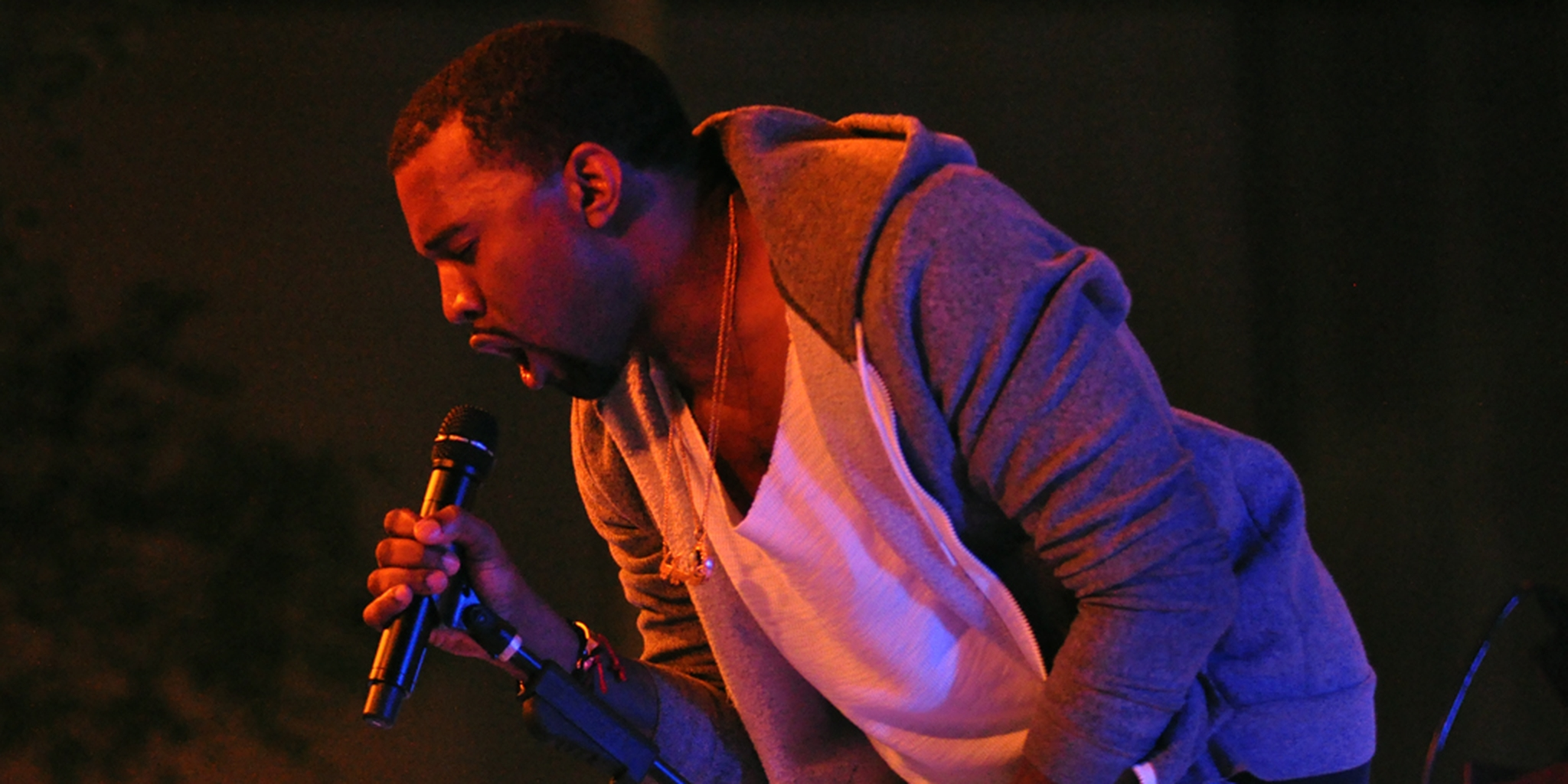 Kanye West Performing at the Moma
