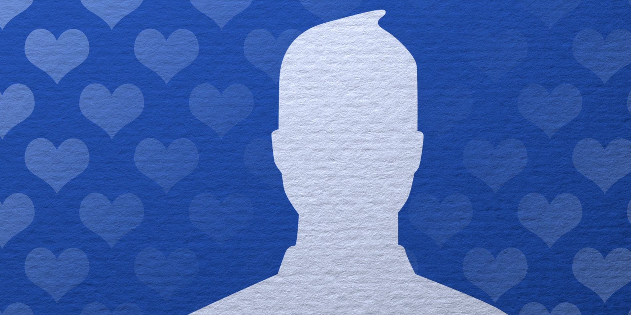 Facebook icon with heart-pattern background