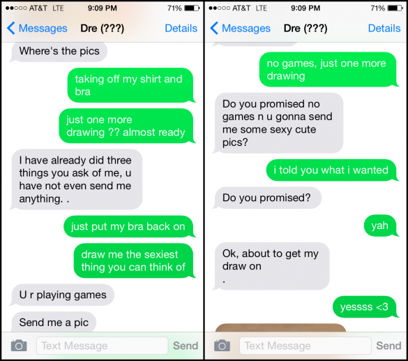 Sexy texts to a guy