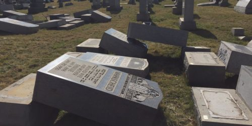More than 100 grave markers were vandalized in a Jewish cemetery in Philadelphia earlier this week.