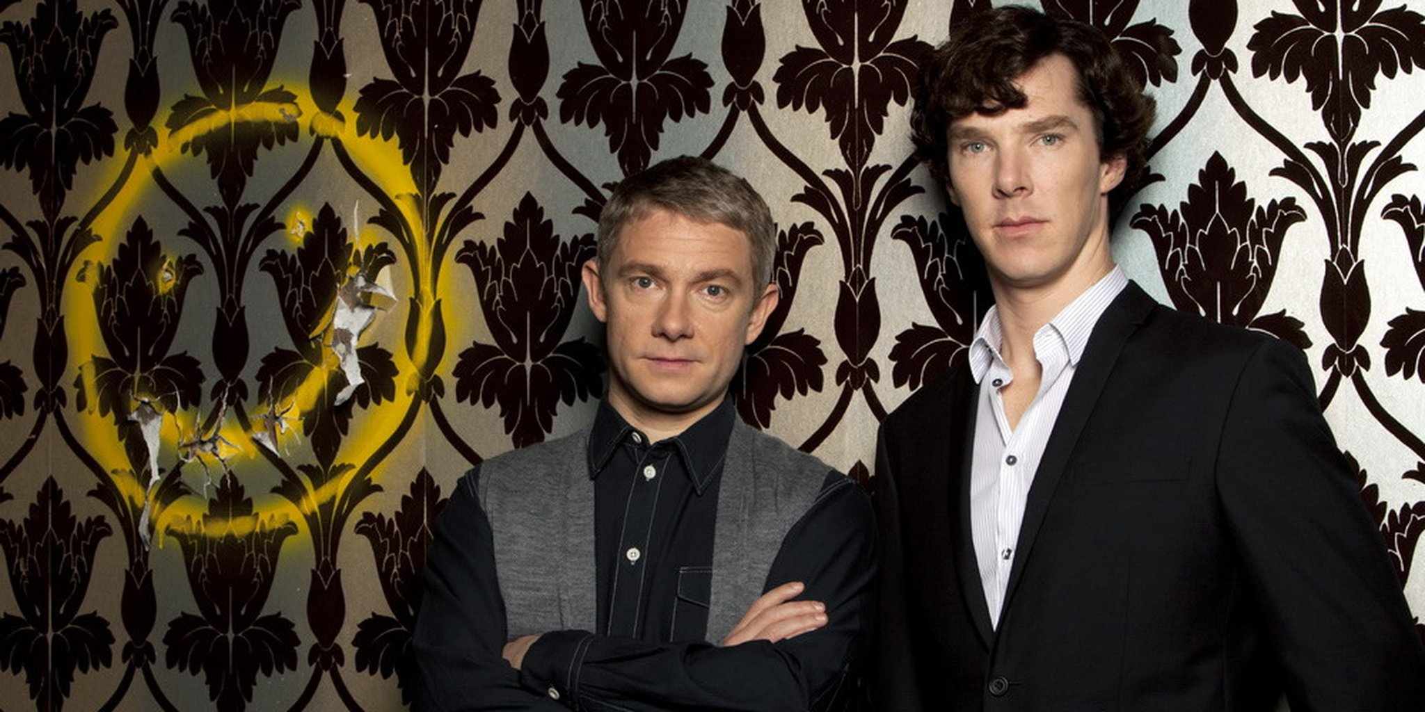 Bendict Cumberbatch and Martin Freeman