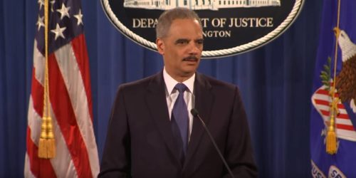 Eric Holder DOJ briefing