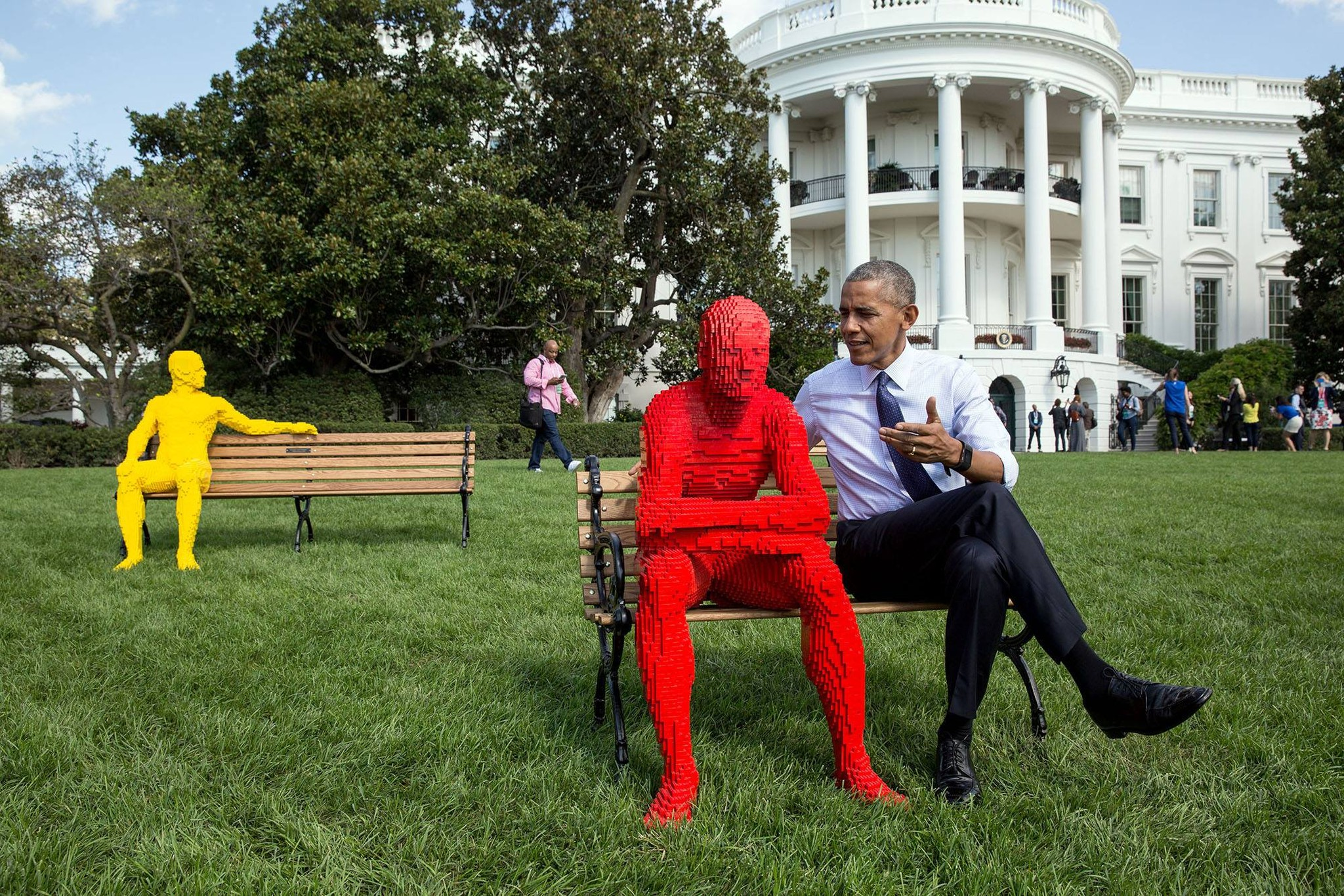 Barack Obama with Lego man