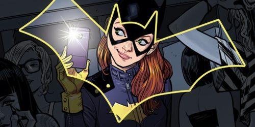 batgirl in bat symbol