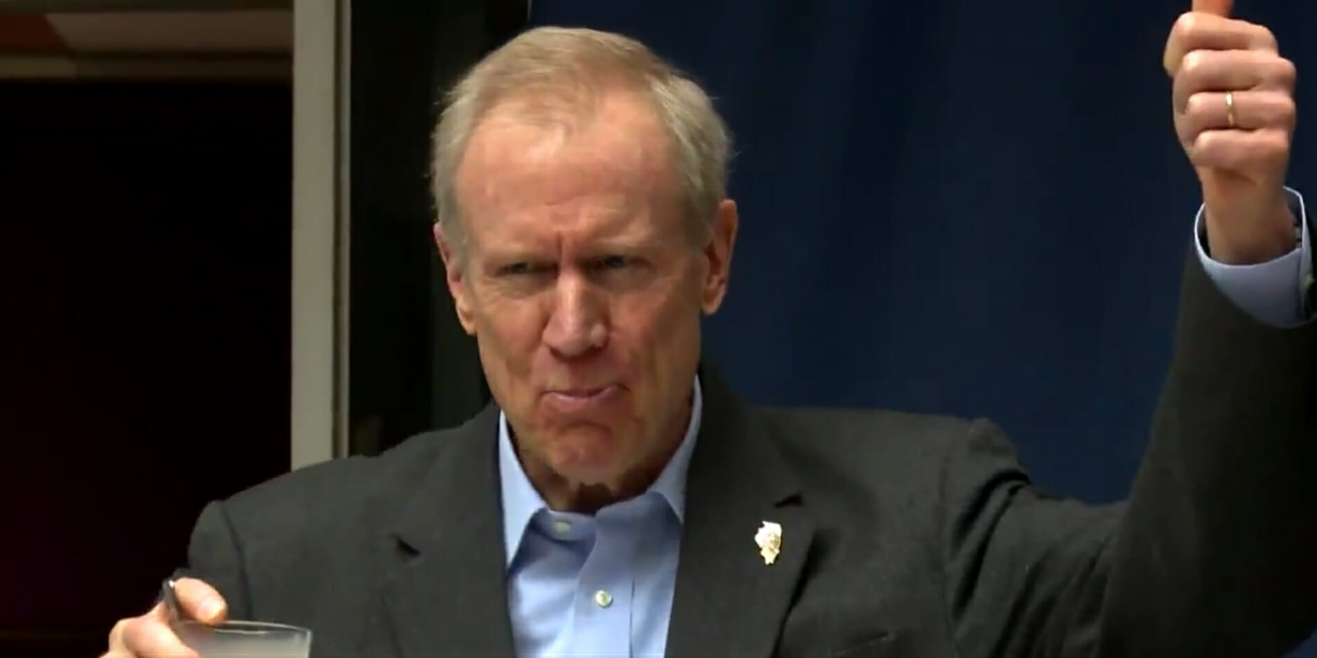 Illinois Governor Bruce Rauner drank chocolate milk to demonstrate his love for diversity.