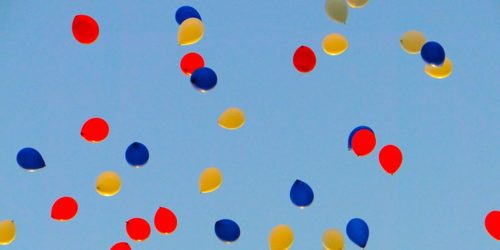 Balloons Floating In The Air