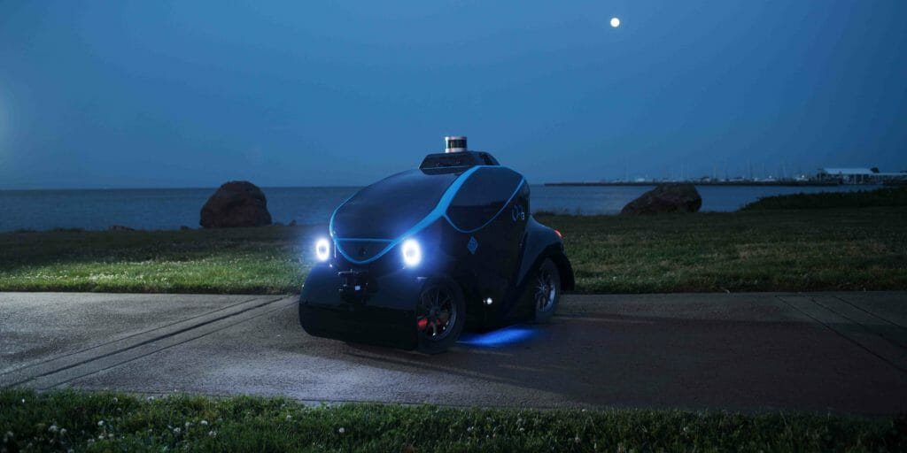 OTSAW Robotics O-R3 mini vehicle at night
