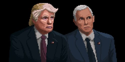 Donald Trump, Mike Pence 8-bit