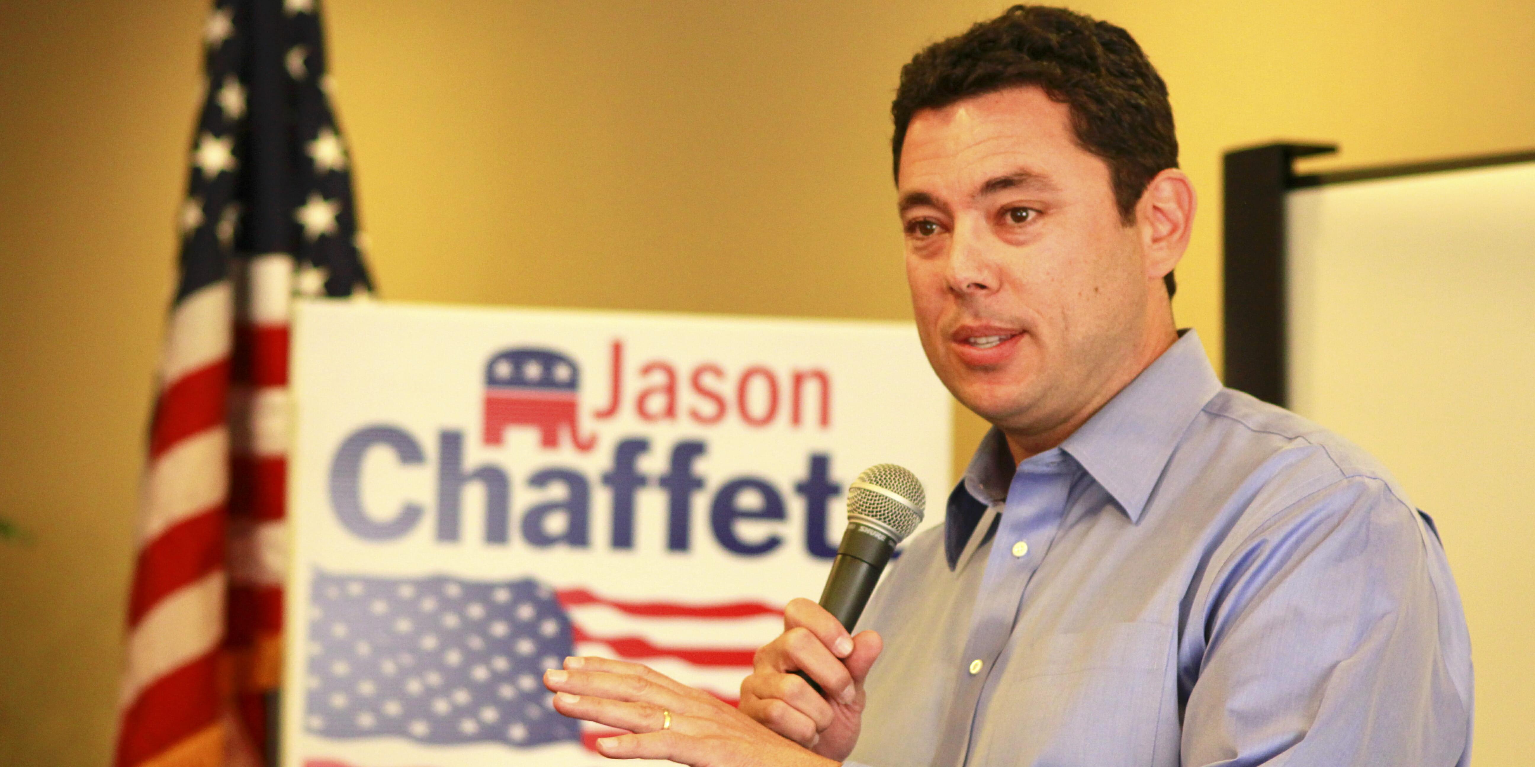 Rep. Jason Chaffetz Speaking with Microphone