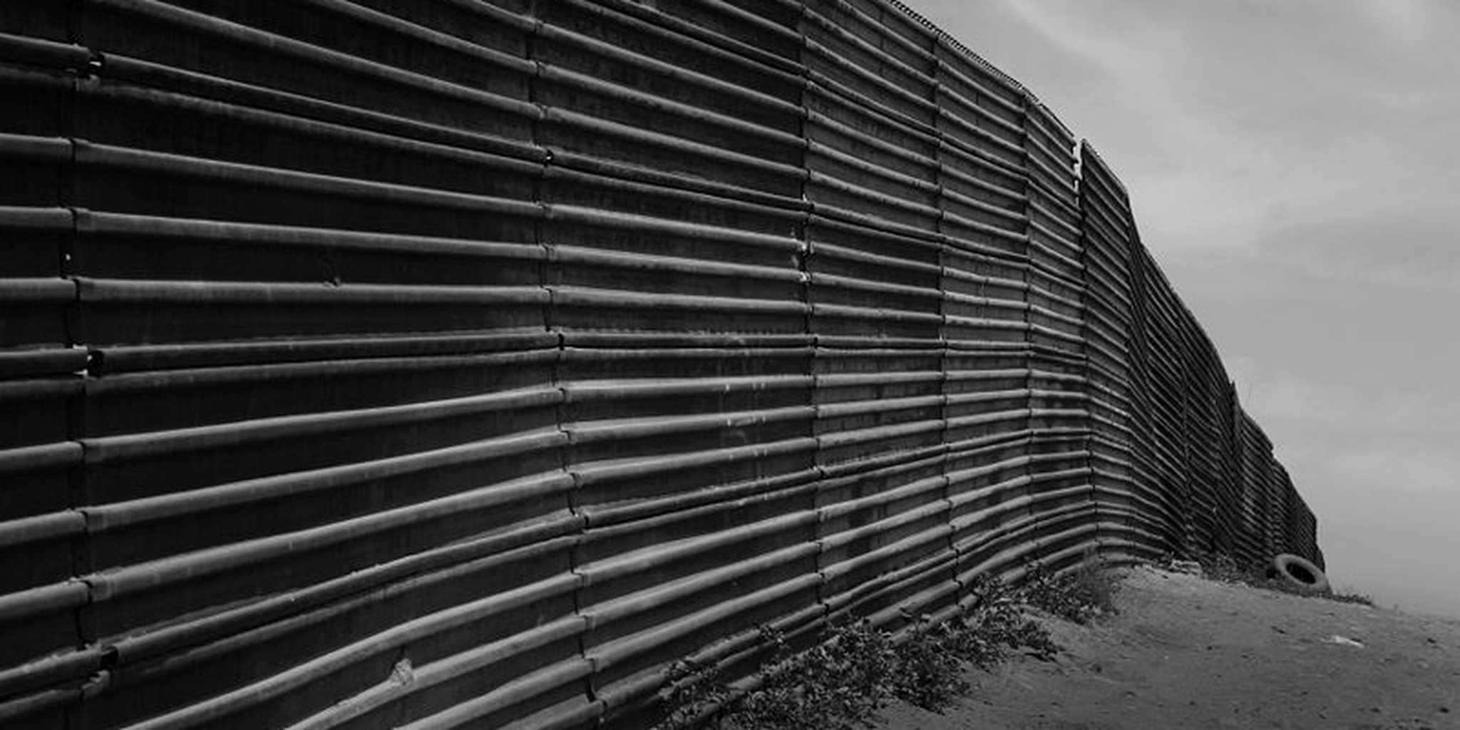 US-Mexico border fence in Tijuana