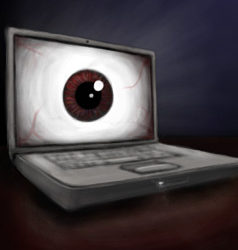 computer with eyeball