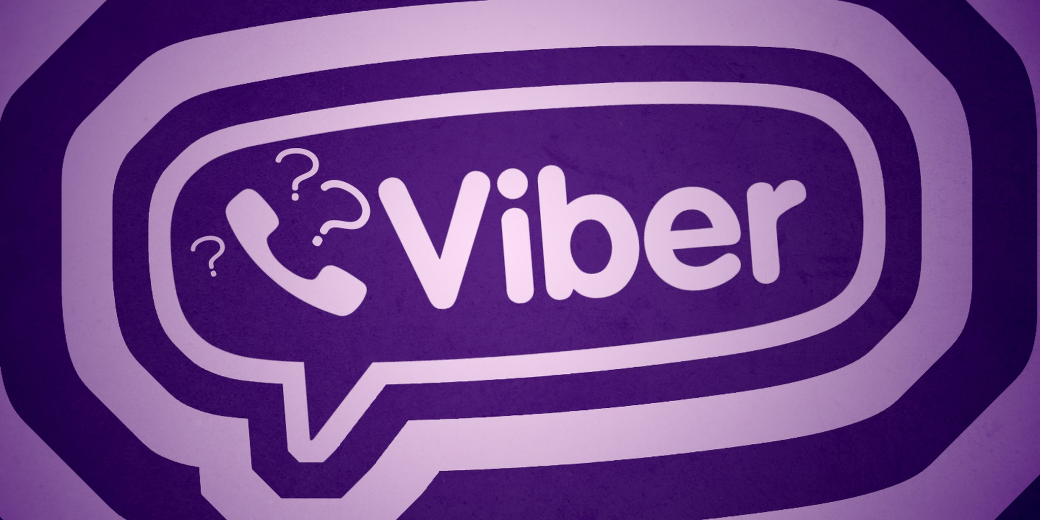 viber logo with question marks surrounding it