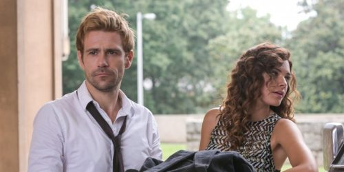 Angelica Celaya and Matt Ryan in Constantine