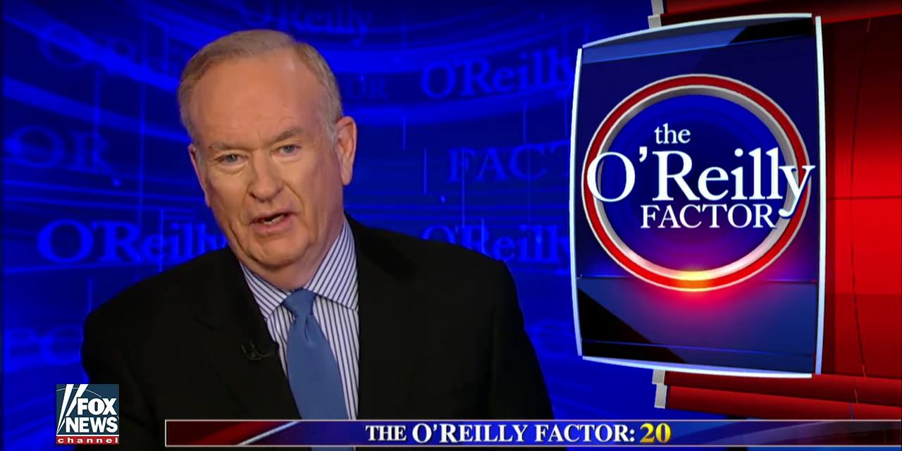 A video still of Bill O'Reilly on 'the O'Reilly Factor.'