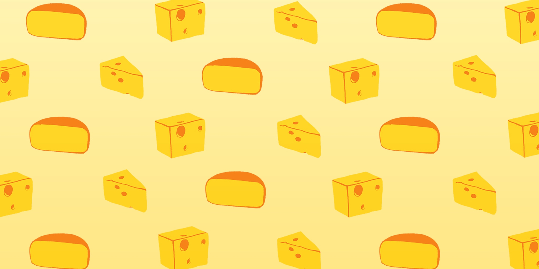 pattern of various cheeses