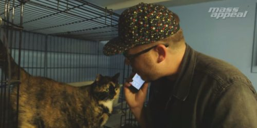 El-P and a cat
