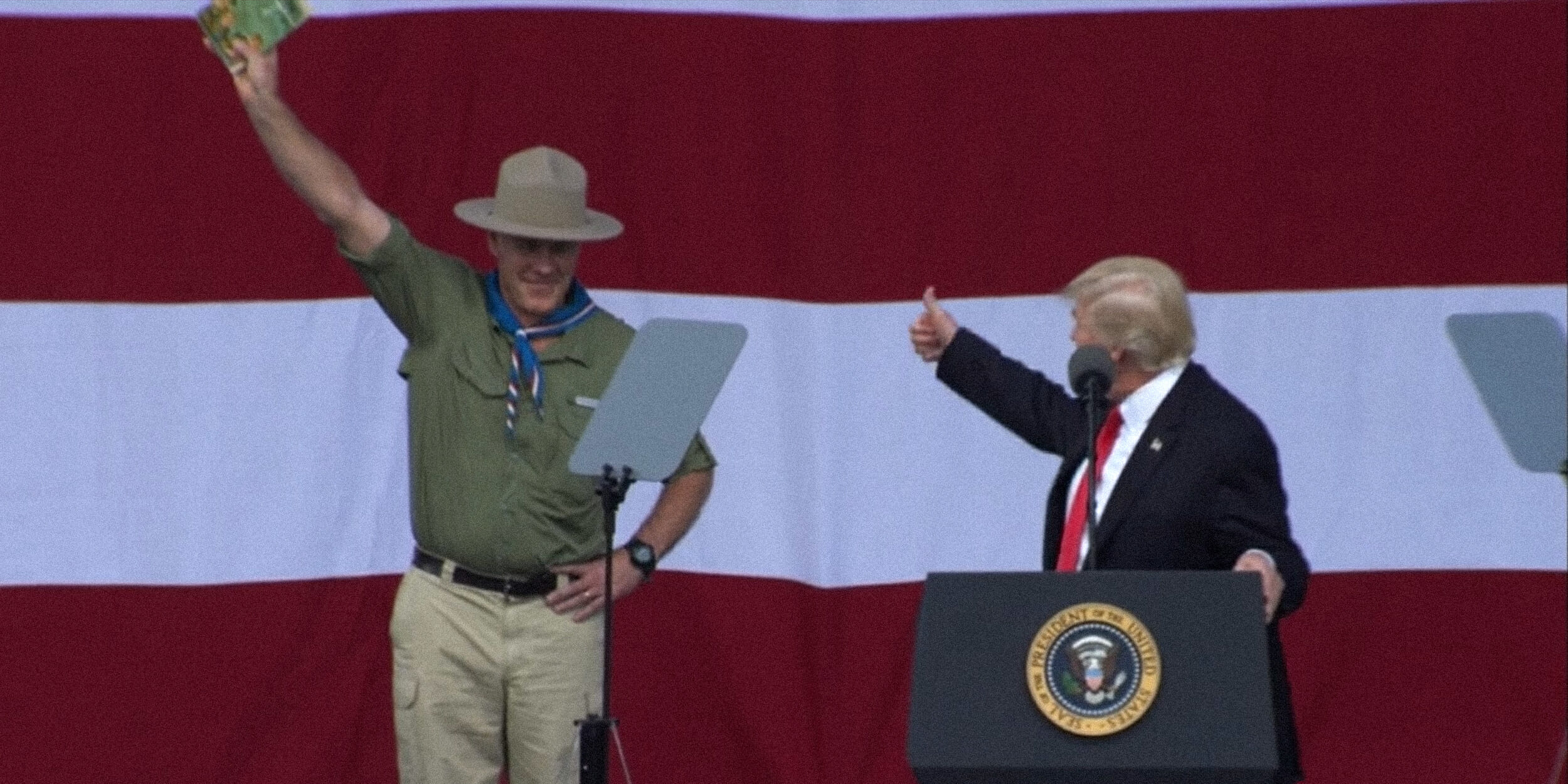 Donald Trump gives thumbs-up to Eagle Scout Ryan Zinke