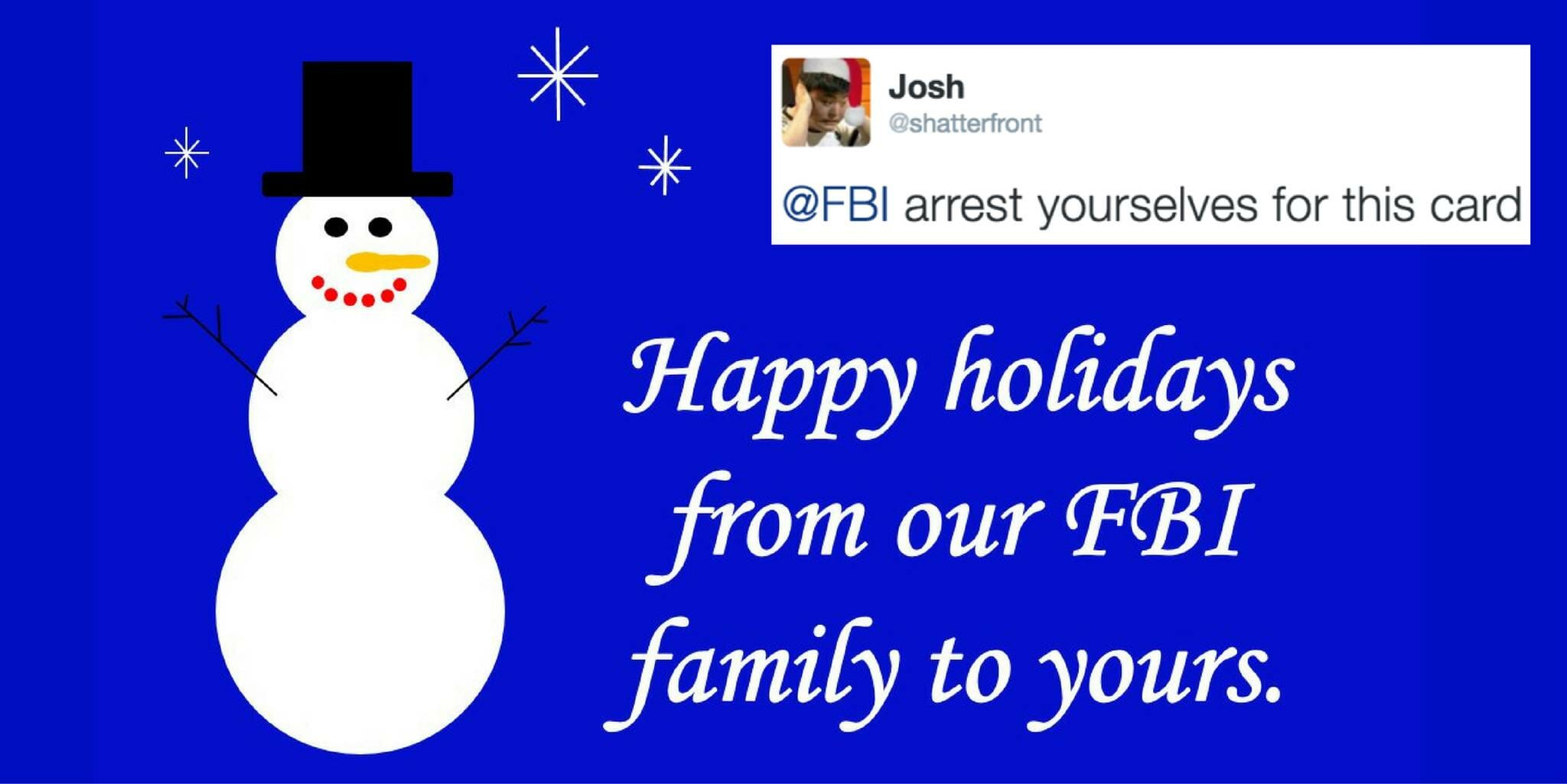 The internet hates the FBI's terrible 'Happy Holidays' graphic