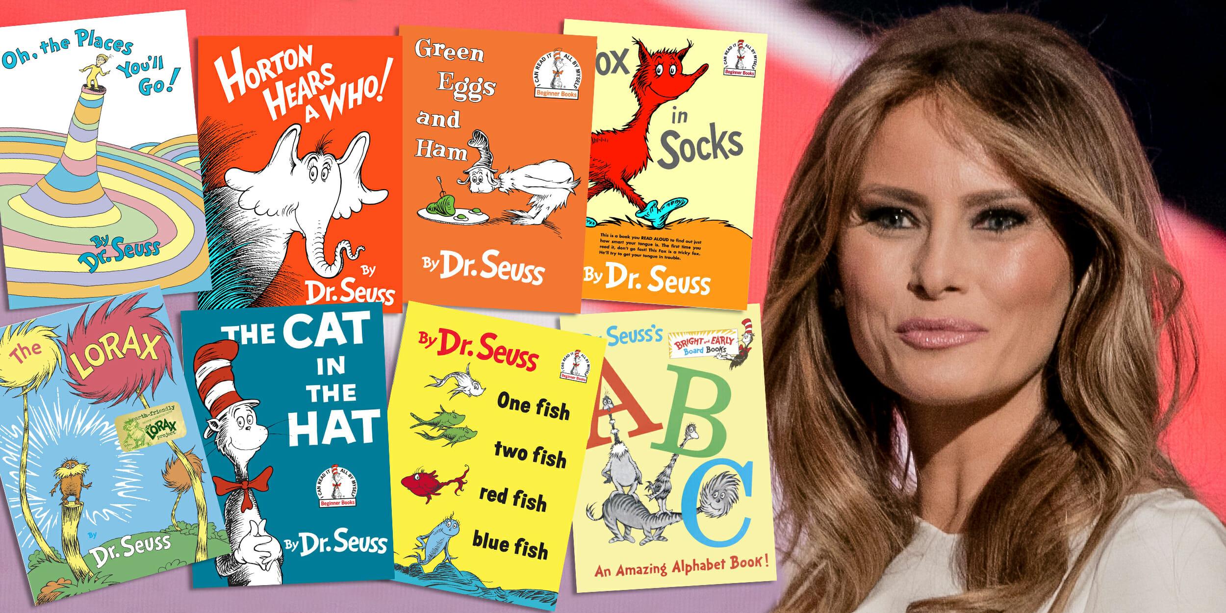 Melania Trump and Dr. Seuss books