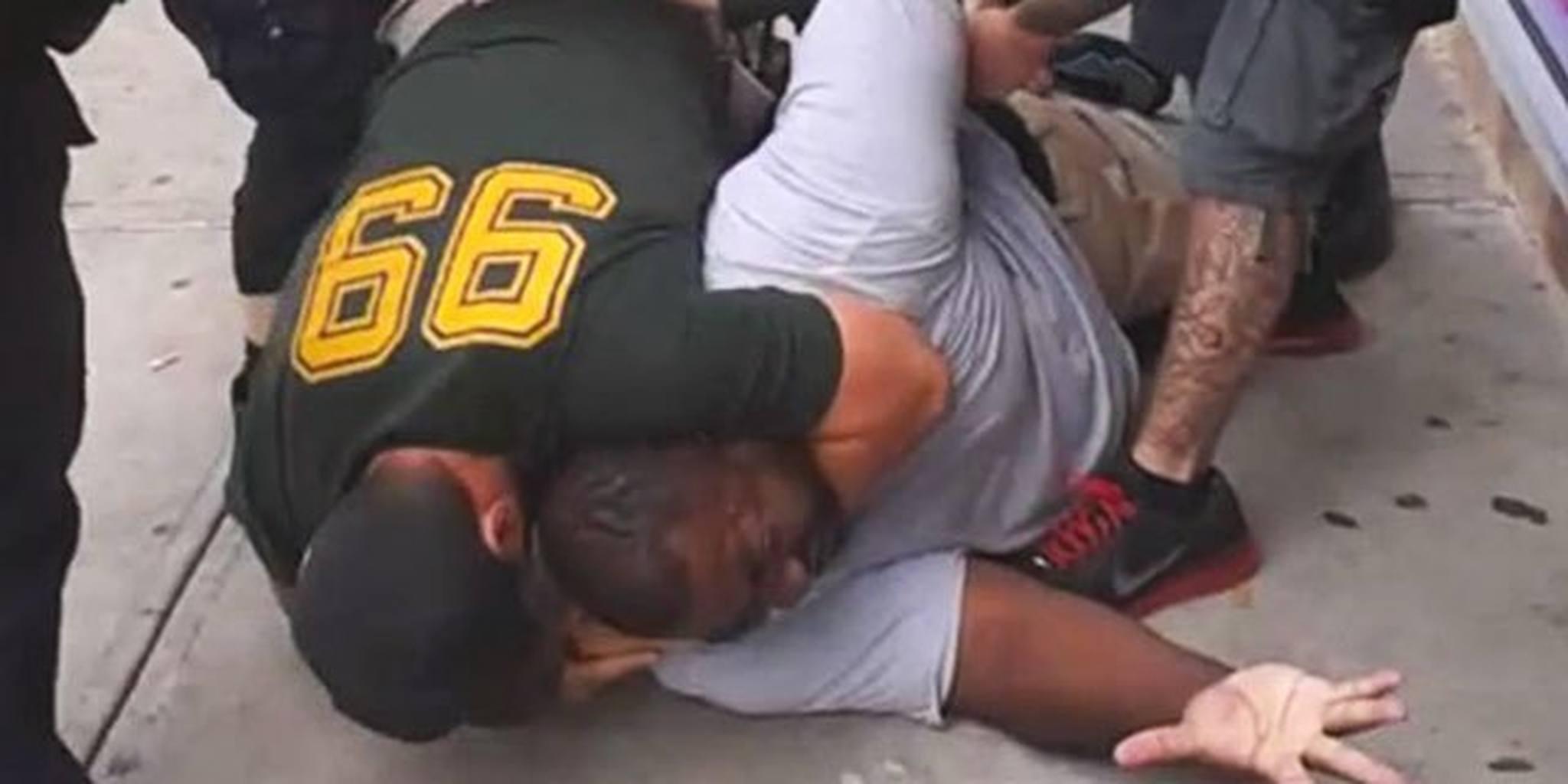 Eric Garner in Chokehold by Daniel Pantaleo