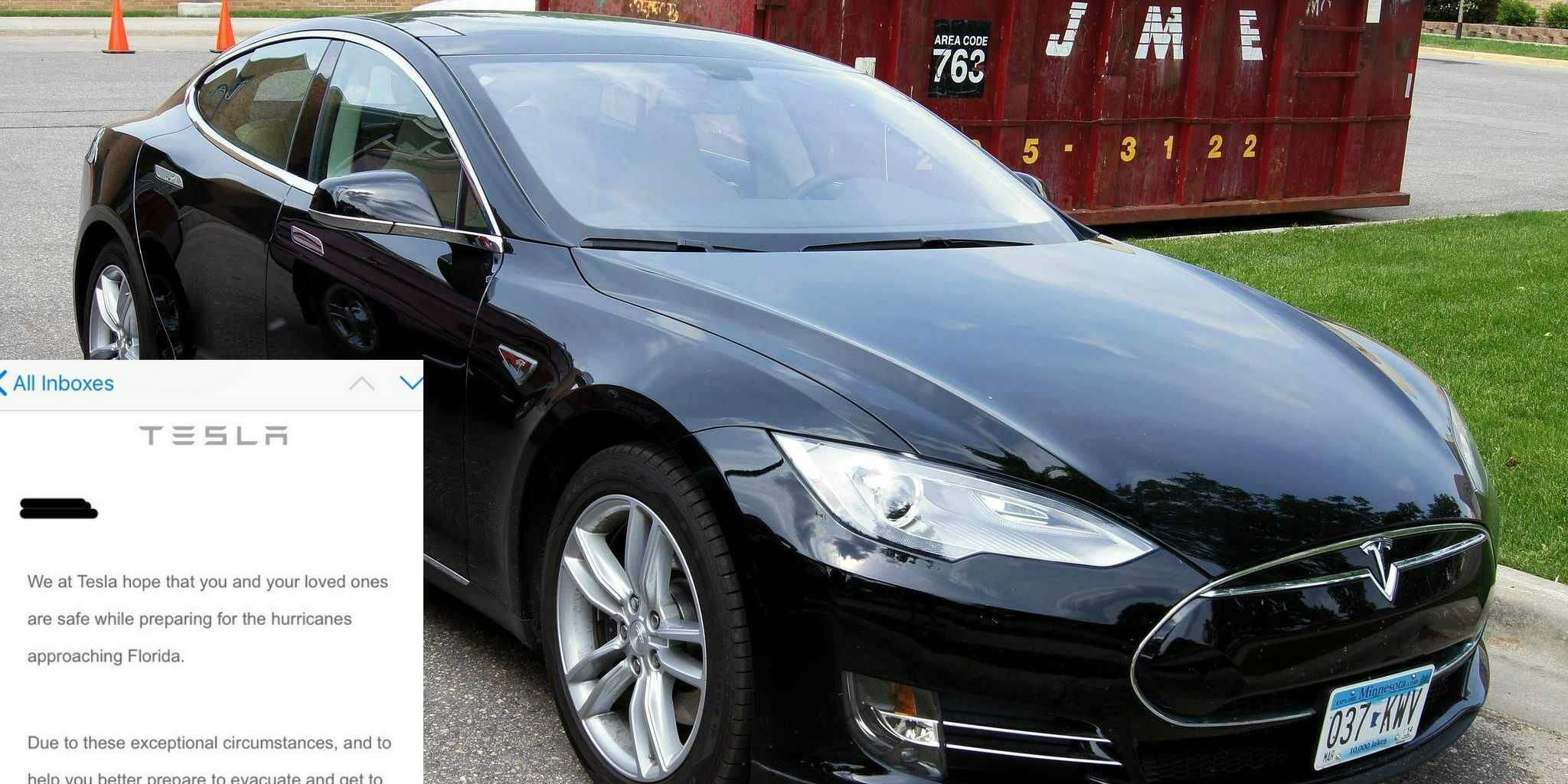 Tesla Hurricane Irma