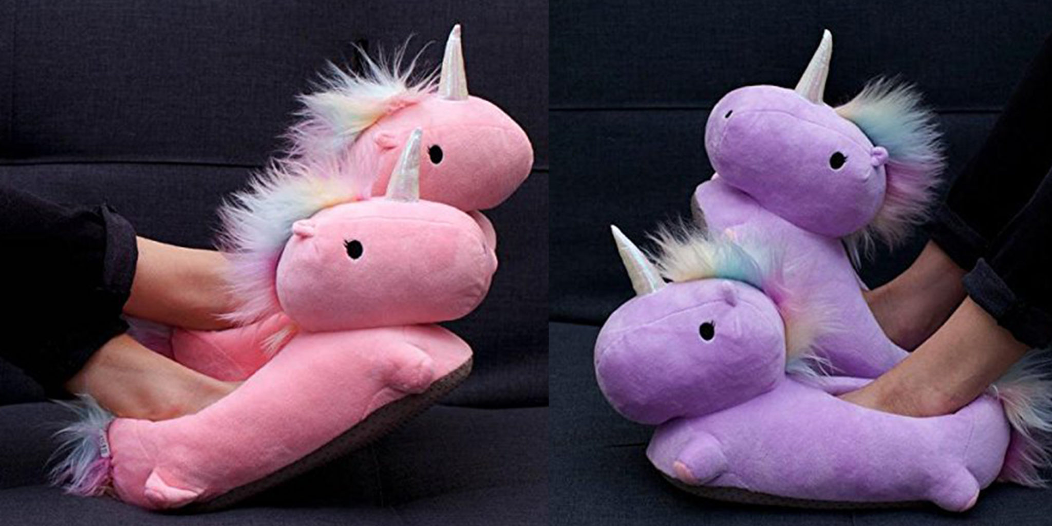 3b648318a6d0 These heated unicorn slippers are a warm hug for your feet