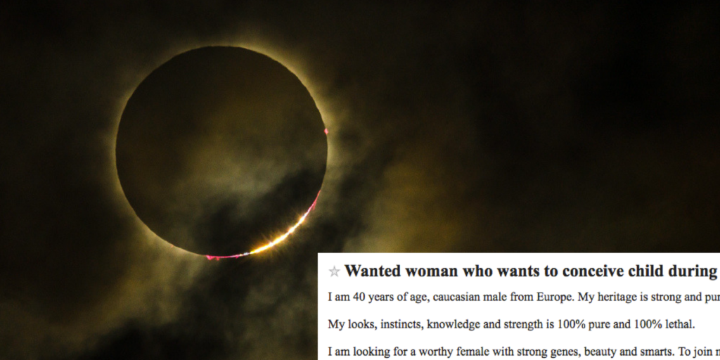 A Craigslist ad for sex during the total eclipse