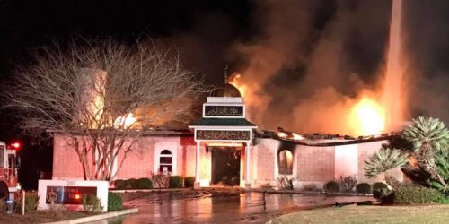 victoria texas islamic center torched fire