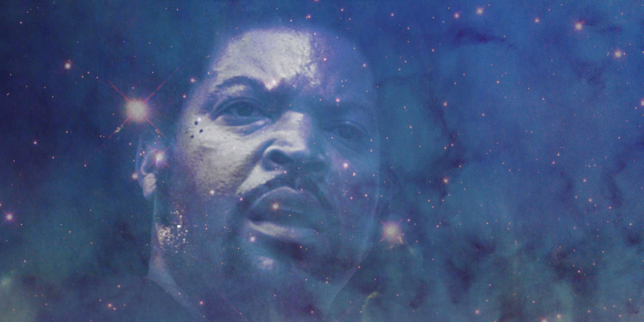 Ice Cube surveying his creation of the universe