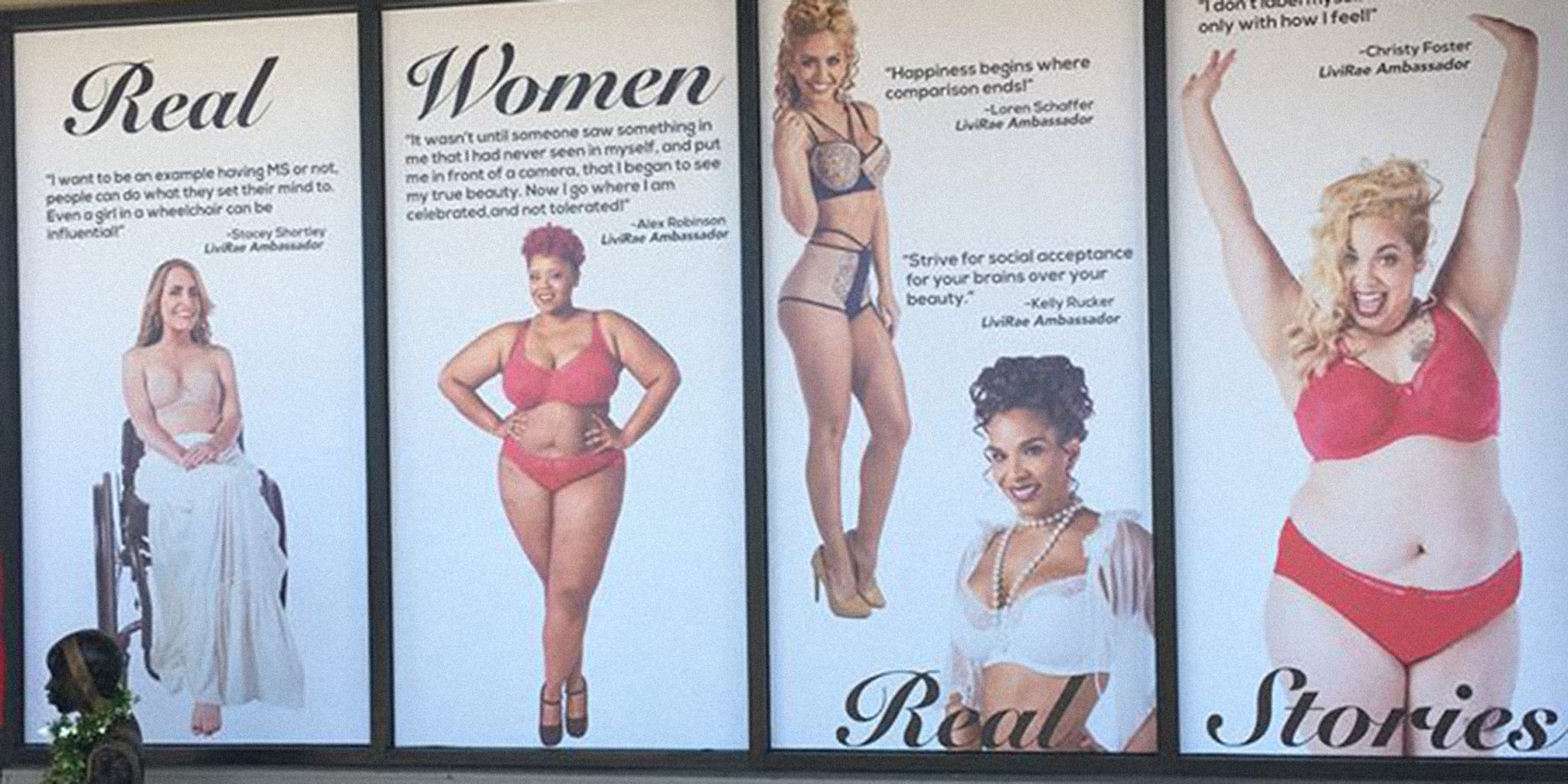 Lingerie shop refuses to take down body-positive campaign after landlord complains
