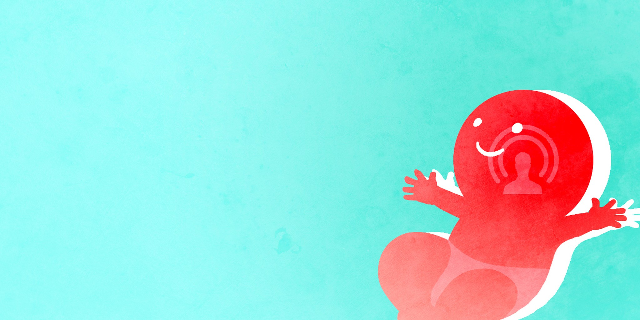 illustration of a baby that looks like the facebook live logo