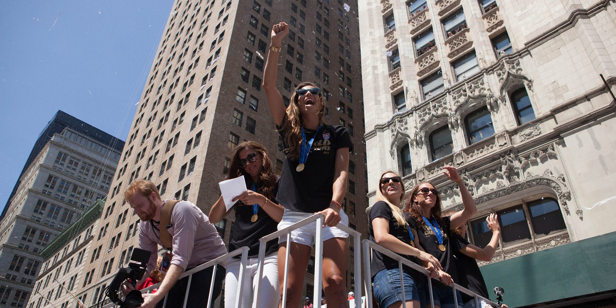 U.S. Women's National Team (USWNT) World Cup 2015 ticker tape parade
